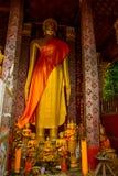 χρυσό άγαλμα του Βούδα Luang Prabang Λάος Στοκ εικόνα με δικαίωμα ελεύθερης χρήσης