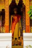 χρυσό άγαλμα του Βούδα Luang Prabang Λάος Στοκ Εικόνες