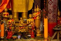 χρυσό άγαλμα του Βούδα Luang Prabang Λάος Στοκ Φωτογραφίες