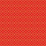 Χρυσό άνευ ραφής εκλεκτής ποιότητας κινεζικό παραθύρων υπόβαθρο σχεδίων διαμαντιών γραμμών tracery διαγώνιο Στοκ εικόνα με δικαίωμα ελεύθερης χρήσης