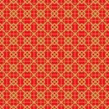 Χρυσό άνευ ραφής εκλεκτής ποιότητας κινεζικό παραθύρων υπόβαθρο σχεδίων γραμμών ελέγχου tracery τετραγωνικό Στοκ Εικόνες