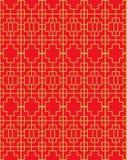 Χρυσό άνευ ραφής εκλεκτής ποιότητας κινεζικό παραθύρων υπόβαθρο σχεδίων γραμμών γεωμετρίας tracery τετραγωνικό Στοκ Φωτογραφία