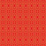 Χρυσό άνευ ραφής εκλεκτής ποιότητας κινεζικό παραθύρων tracery τετραγωνικό γεωμετρίας υπόβαθρο σχεδίων γραμμών διαγώνιο Στοκ Εικόνες