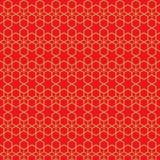Χρυσό άνευ ραφής εκλεκτής ποιότητας κινεζικό υπόβαθρο σχεδίων γραμμών αστεριών tracery παραθύρων Στοκ Εικόνα