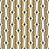 Χρυσό άνευ ραφής εκλεκτής ποιότητας σχέδιο ταπετσαριών του Art Deco Γεωμετρικό de Στοκ εικόνα με δικαίωμα ελεύθερης χρήσης