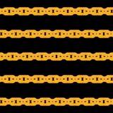 Χρυσό άνευ ραφής διανυσματικό σχέδιο αλυσίδων Στοκ εικόνες με δικαίωμα ελεύθερης χρήσης