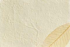 χρυσό έγγραφο φύλλων κατασκευασμένο Στοκ Εικόνες
