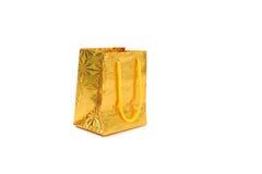 Χρυσό δέμα δώρων Στοκ Εικόνες