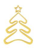 Χρυσό δέντρο Χριστουγέννων Ελεύθερη απεικόνιση δικαιώματος