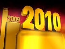 χρυσό έτος του 2010 Στοκ εικόνες με δικαίωμα ελεύθερης χρήσης