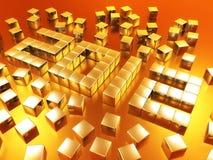 χρυσό έτος του 2012 Στοκ Εικόνα