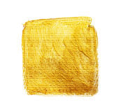 Χρυσό ακρυλικό τετράγωνο Στοκ φωτογραφία με δικαίωμα ελεύθερης χρήσης