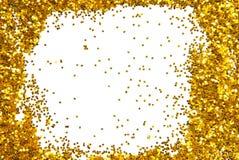 Χρυσό ακτινοβολώντας πλαίσιο σπινθηρίσματος Στοκ εικόνα με δικαίωμα ελεύθερης χρήσης
