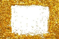 Χρυσό ακτινοβολώντας πλαίσιο σπινθηρίσματος Στοκ Φωτογραφία