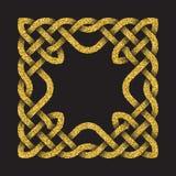 Χρυσό ακτινοβολώντας τετραγωνικό πλαίσιο Στοκ φωτογραφία με δικαίωμα ελεύθερης χρήσης