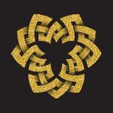 Χρυσό ακτινοβολώντας τριγωνικό σύμβολο Στοκ Φωτογραφίες