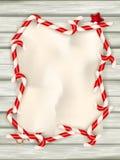 χρυσό απομονωμένο λευκό κορδελλών δώρων Χριστουγέννων κιβωτίων συνόρων ανασκόπησης 10 eps Στοκ φωτογραφία με δικαίωμα ελεύθερης χρήσης