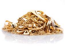 χρυσό απόρριμα Στοκ Εικόνες