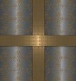 χρυσό ασήμι ανασκόπησης Στοκ Εικόνες