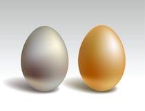 χρυσό ασήμι αυγών Στοκ Εικόνα