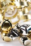 χρυσό ασήμι κουδουνισμάτων κουδουνιών Στοκ Εικόνα
