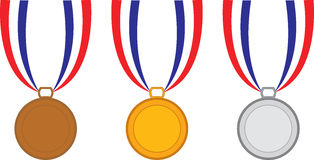 χρυσό ασήμι μετάλλων χαλκ&o Στοκ εικόνα με δικαίωμα ελεύθερης χρήσης