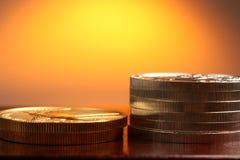 χρυσό ασήμι νομισμάτων Στοκ φωτογραφίες με δικαίωμα ελεύθερης χρήσης
