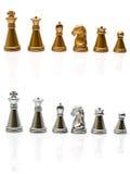 χρυσό ασήμι σκακιού Στοκ φωτογραφία με δικαίωμα ελεύθερης χρήσης