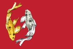 Χρυσό ασήμι των βακκίνιων των βακκίνιων στις κόκκινες ράχες έννοιας υποβάθρου Στοκ φωτογραφία με δικαίωμα ελεύθερης χρήσης