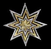χρυσό ασημένιο αστέρι Στοκ φωτογραφία με δικαίωμα ελεύθερης χρήσης
