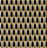 Χρυσό ασημένιο διανυσματικό άνευ ραφής σχέδιο πλέγματος Στοκ Εικόνες