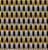 Χρυσό ασημένιο υπόβαθρο σχεδίων πλέγματος διανυσματικό άνευ ραφής Στοκ φωτογραφία με δικαίωμα ελεύθερης χρήσης