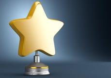 χρυσό αστέρι βραβείων Στοκ εικόνα με δικαίωμα ελεύθερης χρήσης