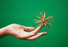 χρυσό αστέρι δάχτυλων Στοκ Φωτογραφίες