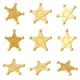 χρυσό αστέρι Διαφορετικές γωνίες Στοκ φωτογραφία με δικαίωμα ελεύθερης χρήσης
