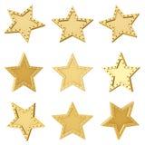 χρυσό αστέρι Διαφορετικές γωνίες Στοκ Εικόνα