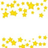 χρυσό αστέρι συνόρων Στοκ φωτογραφίες με δικαίωμα ελεύθερης χρήσης