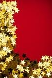 χρυσό αστέρι συνόρων Στοκ εικόνες με δικαίωμα ελεύθερης χρήσης
