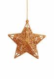 χρυσό αστέρι Χριστουγέννω& Στοκ φωτογραφίες με δικαίωμα ελεύθερης χρήσης