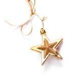 χρυσό αστέρι Χριστουγέννω& Στοκ Εικόνες