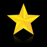 Χρυσό αστέρι Στοκ Εικόνα