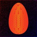 Χρυσό αυγό Πάσχας σε ένα σκοτεινό υπόβαθρο Σχέδιο πηγών διάνυσμα Στοκ φωτογραφία με δικαίωμα ελεύθερης χρήσης