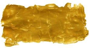 Χρυσό αφηρημένο ακρυλικό χρωματισμένο υπόβαθρο Στοκ εικόνες με δικαίωμα ελεύθερης χρήσης