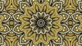 Χρυσό αφηρημένο συμμετρικό υπόβαθρο για την εκτύπωση στον ιματισμό και Στοκ Εικόνες
