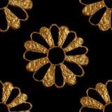 Χρυσό αφηρημένο σχέδιο λουλουδιών Το χέρι χρωμάτισε το floral άνευ ραφής υπόβαθρο Στοκ φωτογραφία με δικαίωμα ελεύθερης χρήσης