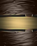 Χρυσό αφηρημένο σχέδιο προτύπων σχεδίου Στοιχείο για το σχέδιο Πρότυπο για το σχέδιο διάστημα αντιγράφων για το φυλλάδιο αγγελιών Στοκ Φωτογραφία
