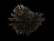 Χρυσό αφηρημένο τρισδιάστατο illustraton έκρηξης πολυτέλειας για την επιχείρησή σας Στοκ Φωτογραφία