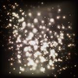 Χρυσό αφηρημένο υπόβαθρο αστεριών Στοκ Εικόνες