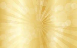 Χρυσό αφηρημένο υπόβαθρο με τις ακτίνες Στοκ φωτογραφίες με δικαίωμα ελεύθερης χρήσης