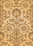 Χρυσό αφηρημένο floral υπόβαθρο σχεδίων Στοκ φωτογραφία με δικαίωμα ελεύθερης χρήσης